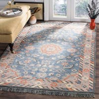 Safavieh Handmade Aspen Blue/ Rust Wool Rug - 5' x 8'