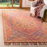Safavieh Handmade Aspen Pink/ Violet Wool Rug - 5' x 8'