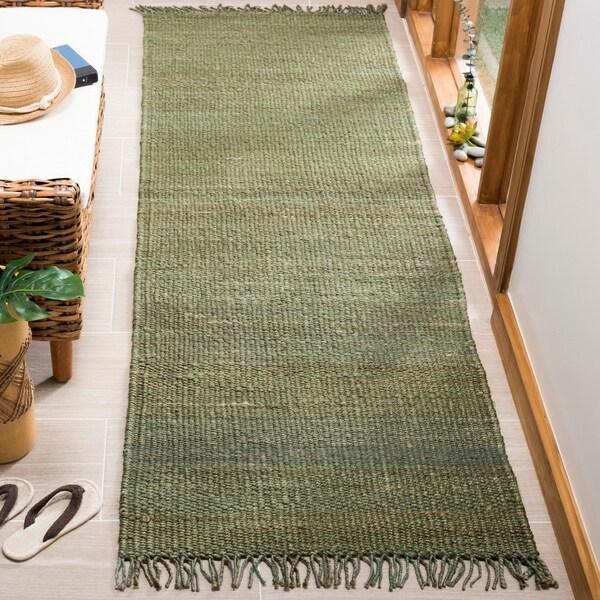 Shop Safavieh Hand-Woven Natural Fiber Green Jute Rug