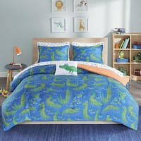 Mi Zone Kids Later Alligator Navy Printed 8-piece Bed in a Bag Set