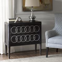 Madison Park Alverado Black/ Silver 2-Drawer Chest