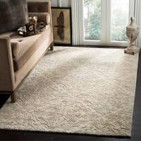 Safavieh Handmade Blossom Ivory/ Grey Wool Rug - 5' x 8'