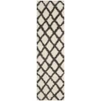 Safavieh Dallas Shag Ivory/ Grey Rug - 2'3 x 8'