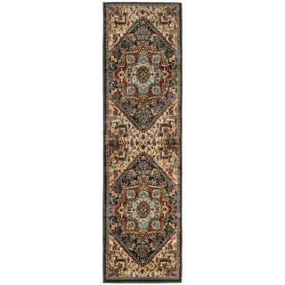 Safavieh Summit Dark Grey/ Red Rug (2'3 x 10')