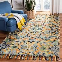 Safavieh Handmade Blossom Blue/ Multi Wool Tassel Area Rug - 5' x 8'