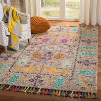 Safavieh Handmade Blossom Grey/ Multi Wool Rug - 5' x 8'