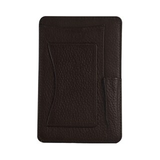 "Genuine Leather 4"" x 6"" Notepad Holder with Pen Holder and Card Slot, Brown"