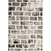 Safavieh Memphis Shag Grey/ Cream Rug - 4' x 6'