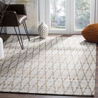 Safavieh Hand-Woven Cape Cod Silver/ Natural Cotton Rug (6' x 9')