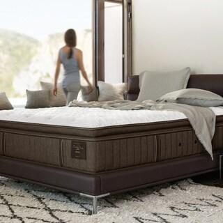 Stearns & Foster Scarborough 14-inch Plush Euro Pillow Top California King-size Mattress Set