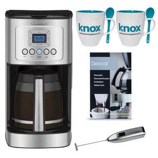 Cuisinart DCC-3200 14-Cup Coffeemaker + Descaler + Mug Set + Frother( Refurbished)