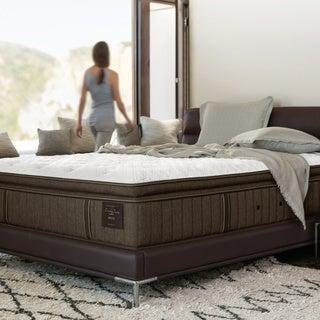 Stearns & Foster Scarborough 14-inch Plush Euro Pillow Top King-size Mattress Set