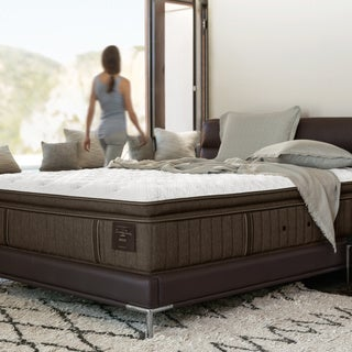 Stearns & Foster Scarborough Plush Euro Pillow-top 14-inch Queen-size Mattress Set