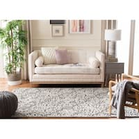Safavieh Handmade Trace Dark Grey/ Light Grey Wool Rug - 4' x 6'