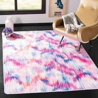 """Safavieh Daytona Ivory/ Pink Polyester Rug - 5'-1"""" X 7'-6"""""""