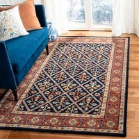 Safavieh Handmade Heritage Navy/ Red Wool Rug - 6' x 9'