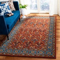 Safavieh Handmade Heritage Red/ Blue Wool Rug - 5' x 8'
