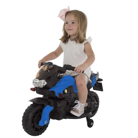 Lil' Rider Battery-Powered Ride-on Toy 2 Wheel Motorcycle with Training Wheels