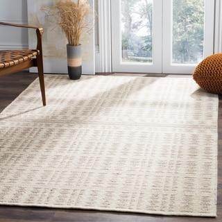 Safavieh Hand-Woven Kilim Ivory/ Light Grey Wool Rug (5' x 8')