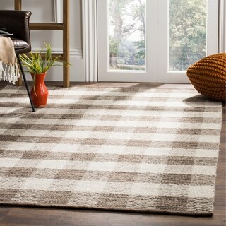 Safavieh Hand-Woven Kilim Light Grey/ Brown Wool Rug (5' x 8')