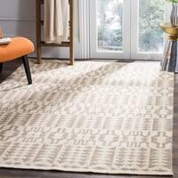 Safavieh Hand-Woven Kilim Ivory/ Grey Wool Rug - 5' x 8'
