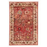 Safavieh Kashan Red/ Beige Rug - 5'1 x 7'5