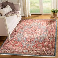 "Safavieh Kashan Blue/ Red Rug - 5'1"" x 7'5"""