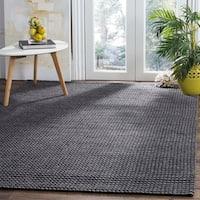 Safavieh Hand-Woven Natura Grey/ Black Wool Rug - 5' x 8'