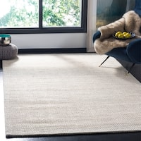 Safavieh Hand-Woven Natura Silver/ Ivory Wool Rug - 5' x 8'