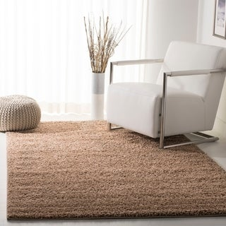 Safavieh New York Shag Dark Beige Rug (5'1 x 7'6)