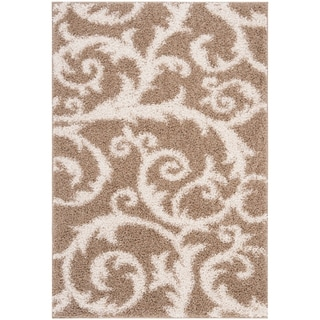 Safavieh New York Shag Beige Rug (5'1 x 7'6)