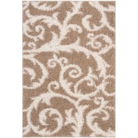 Safavieh New York Shag Beige Rug - 5'1 x 7'6