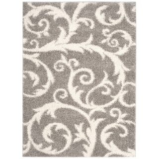 Safavieh New York Shag Light Grey Rug (5'1 x 7'6)
