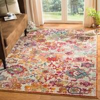 Safavieh Savannah Floral Watercolor Cream/ Orange Rug (5'1 x 7'6)