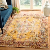 Safavieh Savannah Vintage Medallion Yellow/ Rust Rug - 5'1 x 7'6