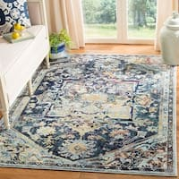 Safavieh Savannah Vintage Medallion Navy/ Cream Rug - 5'1 x 7'6