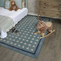 Mohawk Home Bayside Nursery Stars Area Rug (8'x10') - 8' x 10'/8' x10'