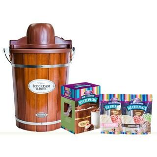 Nostalgia Vintage Collection 6-Qt. Electric Ice Cream Maker Bonus Holiday Kit