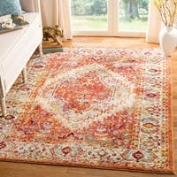 "Safavieh Savannah Vintage Medallion Orange/ Cream Rug - 5'1"" x 7'6"""