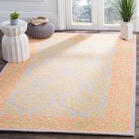 Safavieh Hand-Hooked Suzani Orange/ Silver Wool Rug (5' x 8')