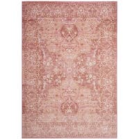 Safavieh Windsor Rose/ Red Cotton Rug - 5' x 7'
