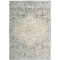 Safavieh Windsor Blue/ Lime Cotton Rug - 5' x 7'