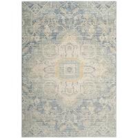 Safavieh Windsor Blue/ Lime Cotton Rug (5' x 7')