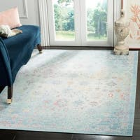 Safavieh Windsor Seafoam/ Blue Cotton Rug - 5' x 7'