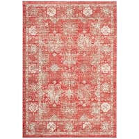 Safavieh Windsor Red/ Ivory Cotton Rug - 5' x 7'