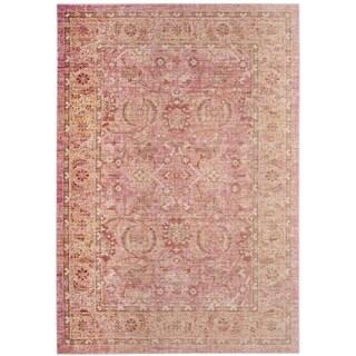 Safavieh Windsor Pink/ Orange Cotton Rug (5' x 7')