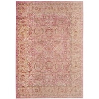 Safavieh Windsor Pink/ Orange Cotton Rug (5' x 7')