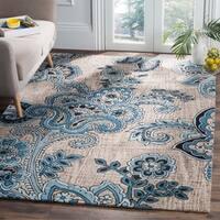 Safavieh Handmade Allure Bohemian Grey/ Blue Wool Rug - 8' x 10'