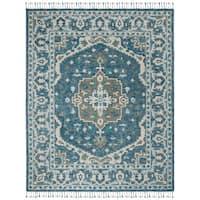 Safavieh Handmade Aspen Dark Blue/ Grey Wool Rug - 8' x 10'