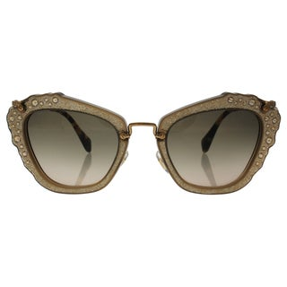 Miu Miu MU 04Q MAR-3D0 - Women's Opal Beige/Grey Sunglasses